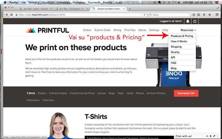 Come creare una linea di abbigliamento con Printful