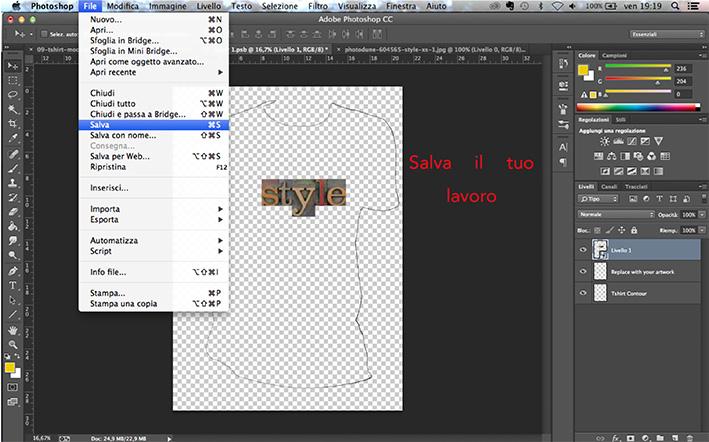 Come creare una linea di abbigliamento con Photoshop