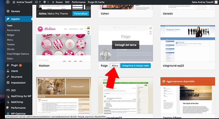 3 come creare un sito con wordpress passo per passo for Immagini sito