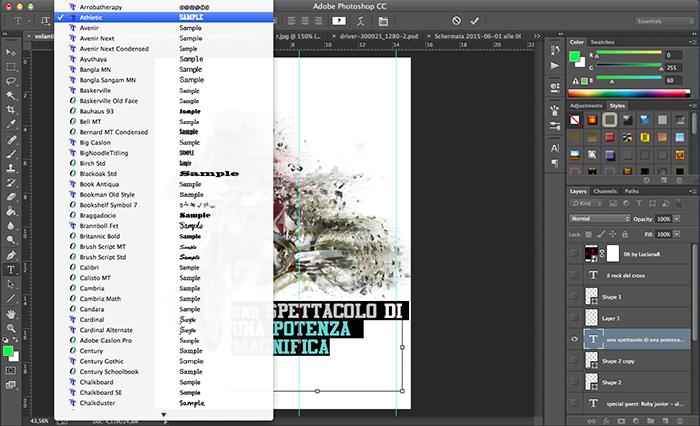 cercare font per volantino